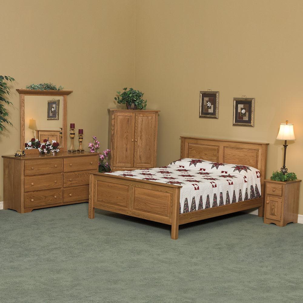 Master bedroom furniture set amish arts crafts solid for Amish bedroom furniture