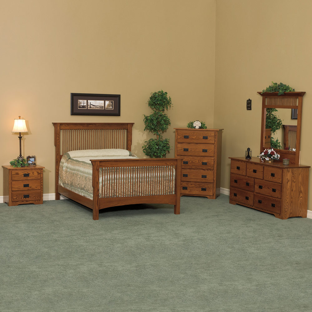 Bedroom Furniture Set Handcrafted In Solid Wood Amish