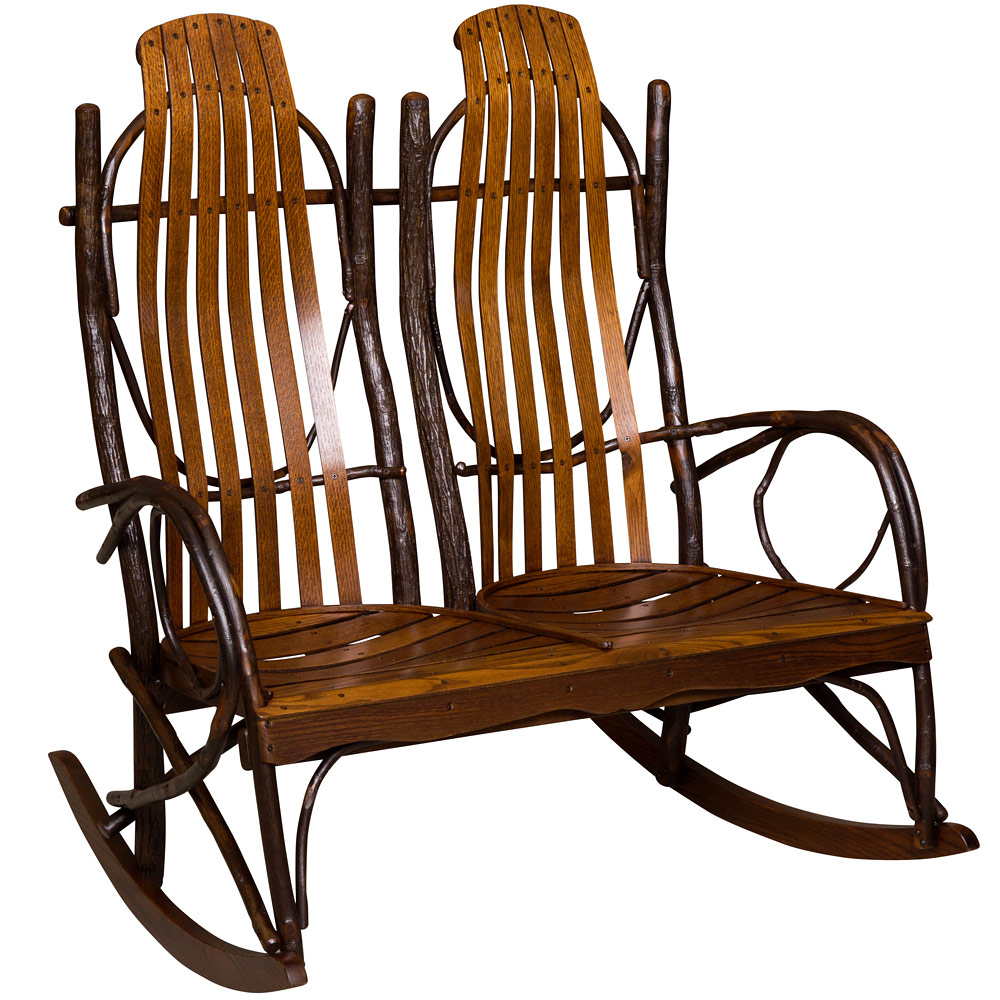 Superbe Hickory Double Amish Rocking Chair