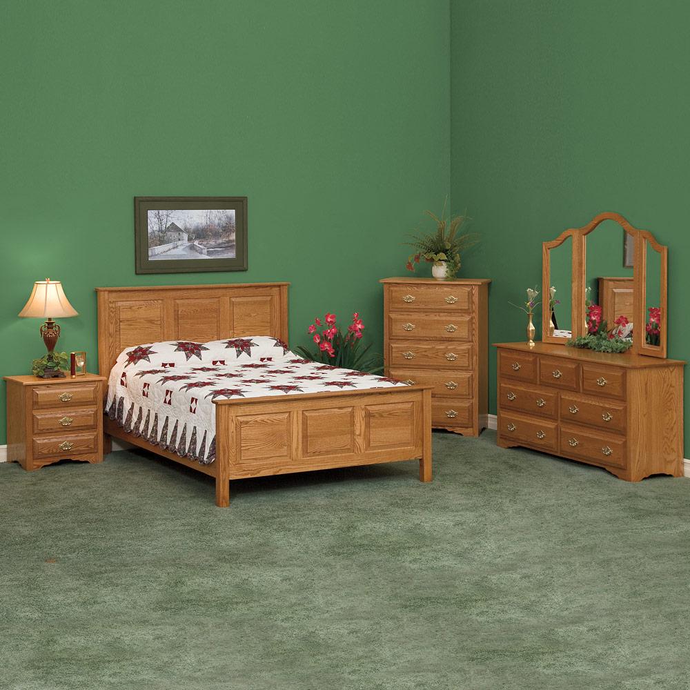 Traditional bedroom set amish solid wood handmade harmony classic - Amish bedroom furniture ...