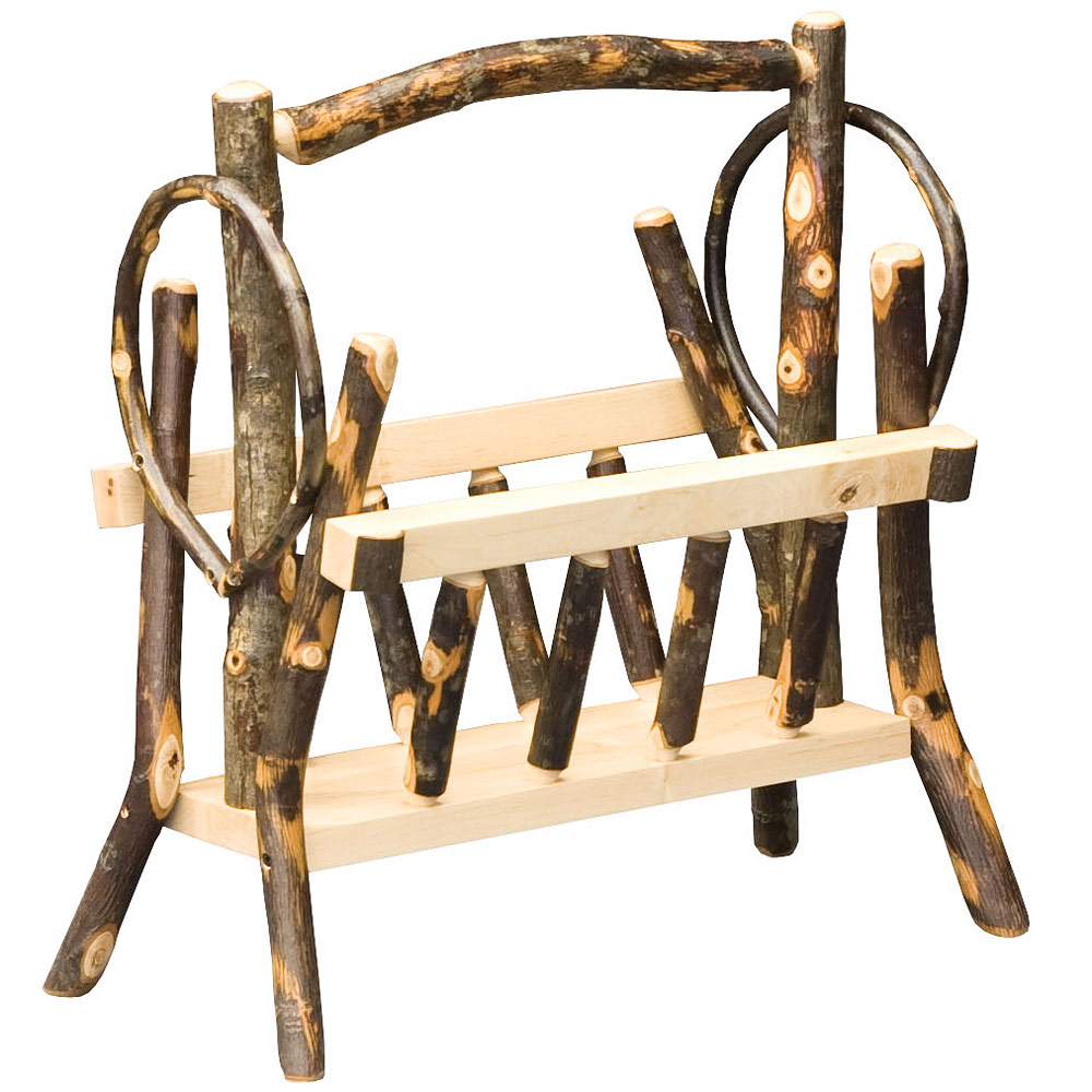 Allegheny bentwood amish magazine rack hickory wood for Fine woodworking magazine discount