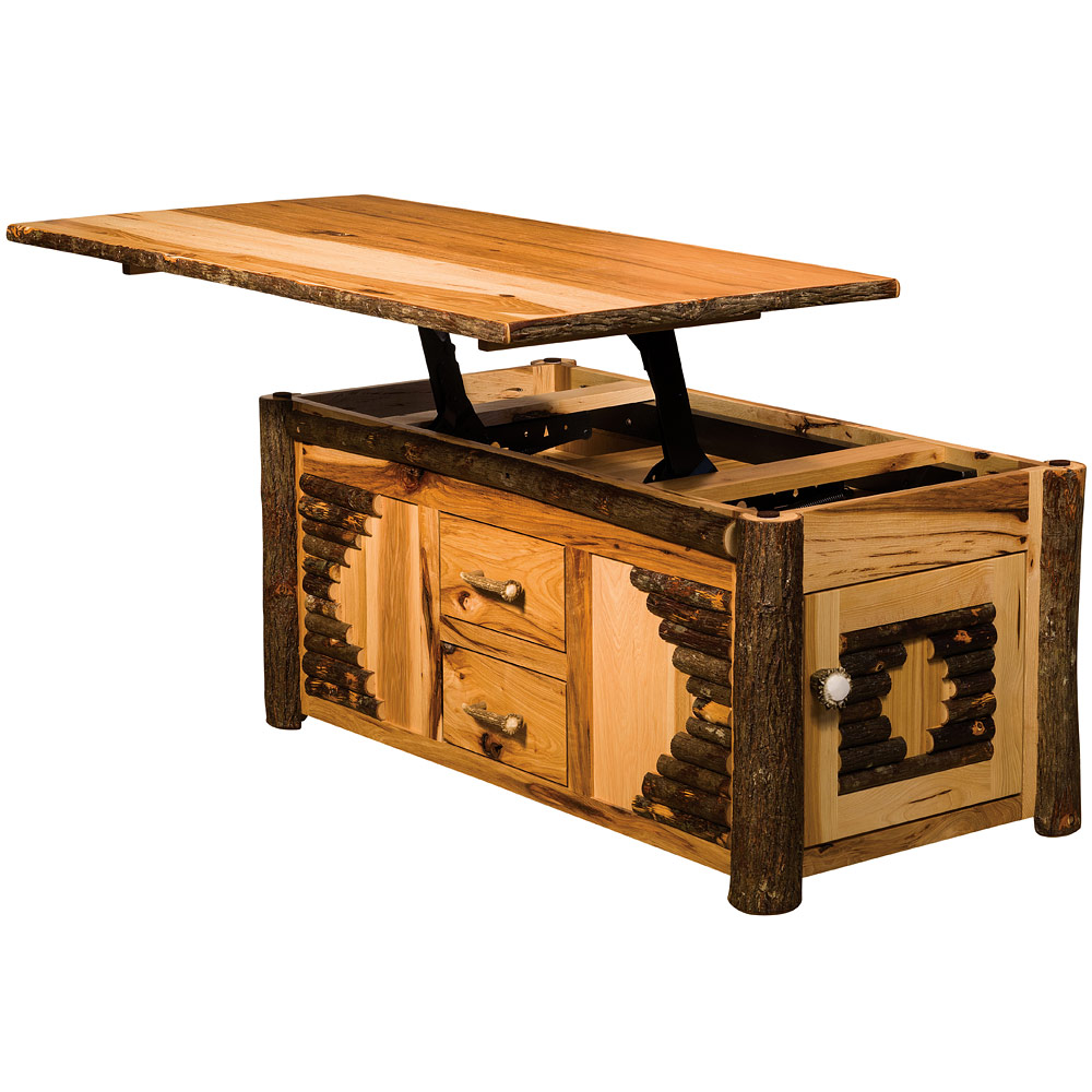 Wildwood Lift Top Amish Coffee Table Amish Furniture Cabinfield Fine Furniture