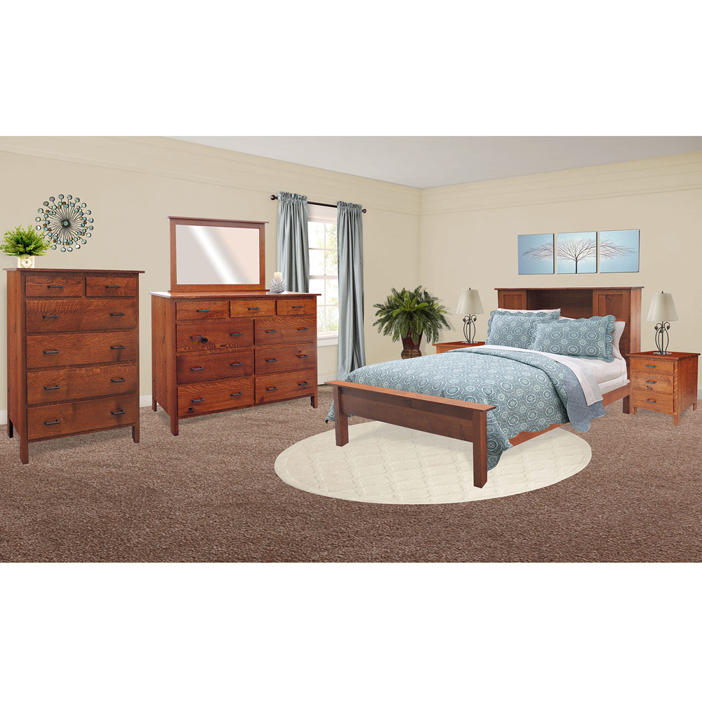 Quick ship sets collection pioneer series pioneer amish bedroom furniture set - Amish bedroom furniture ...