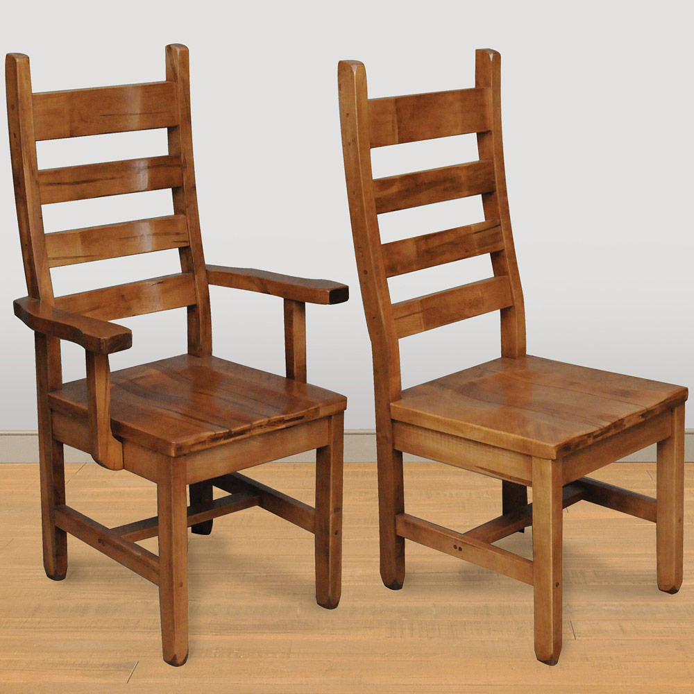 Rustic Ladder Back Amish Dining Chairs