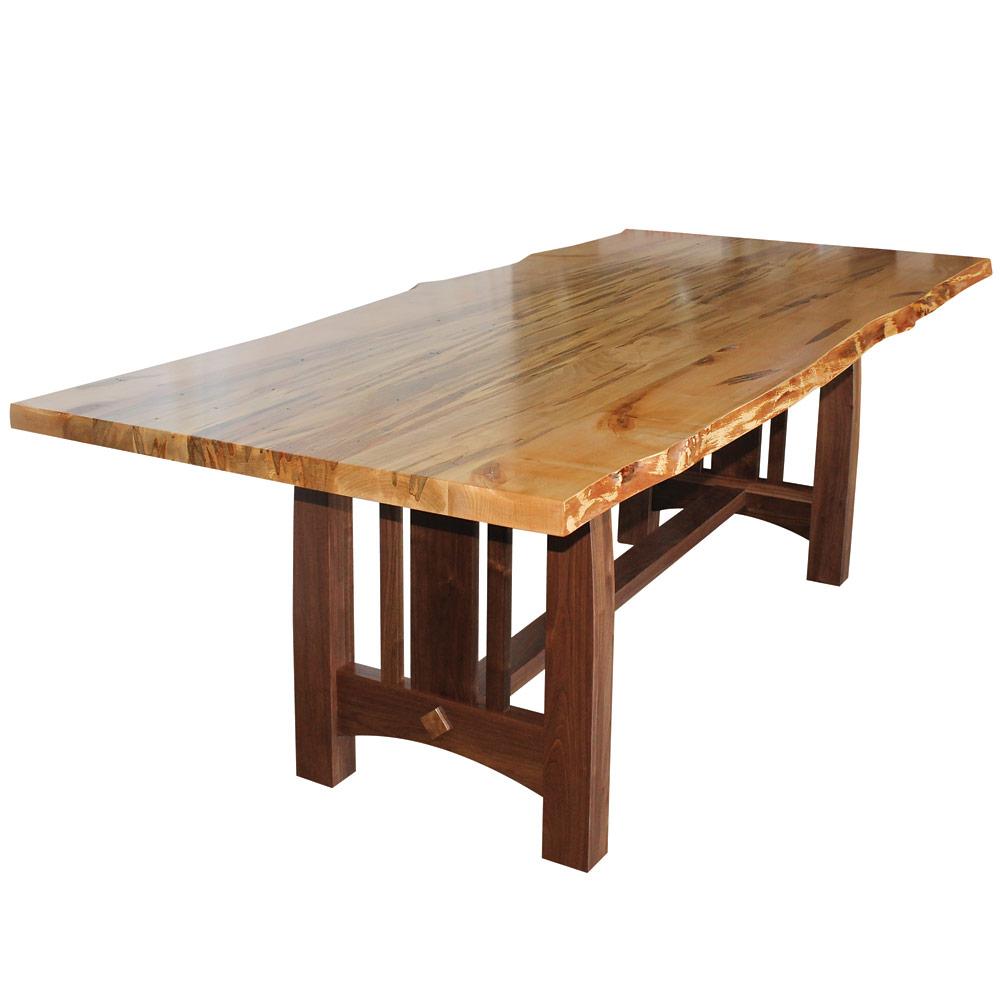 Boulder Creek Walnut Amish Dining Table Cabinfield Fine Furniture