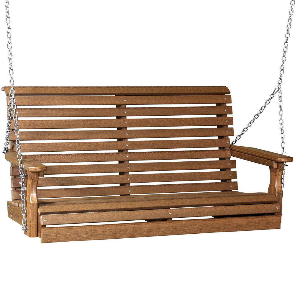 Rollback Poly Amish Porch Swing 4 Ecological