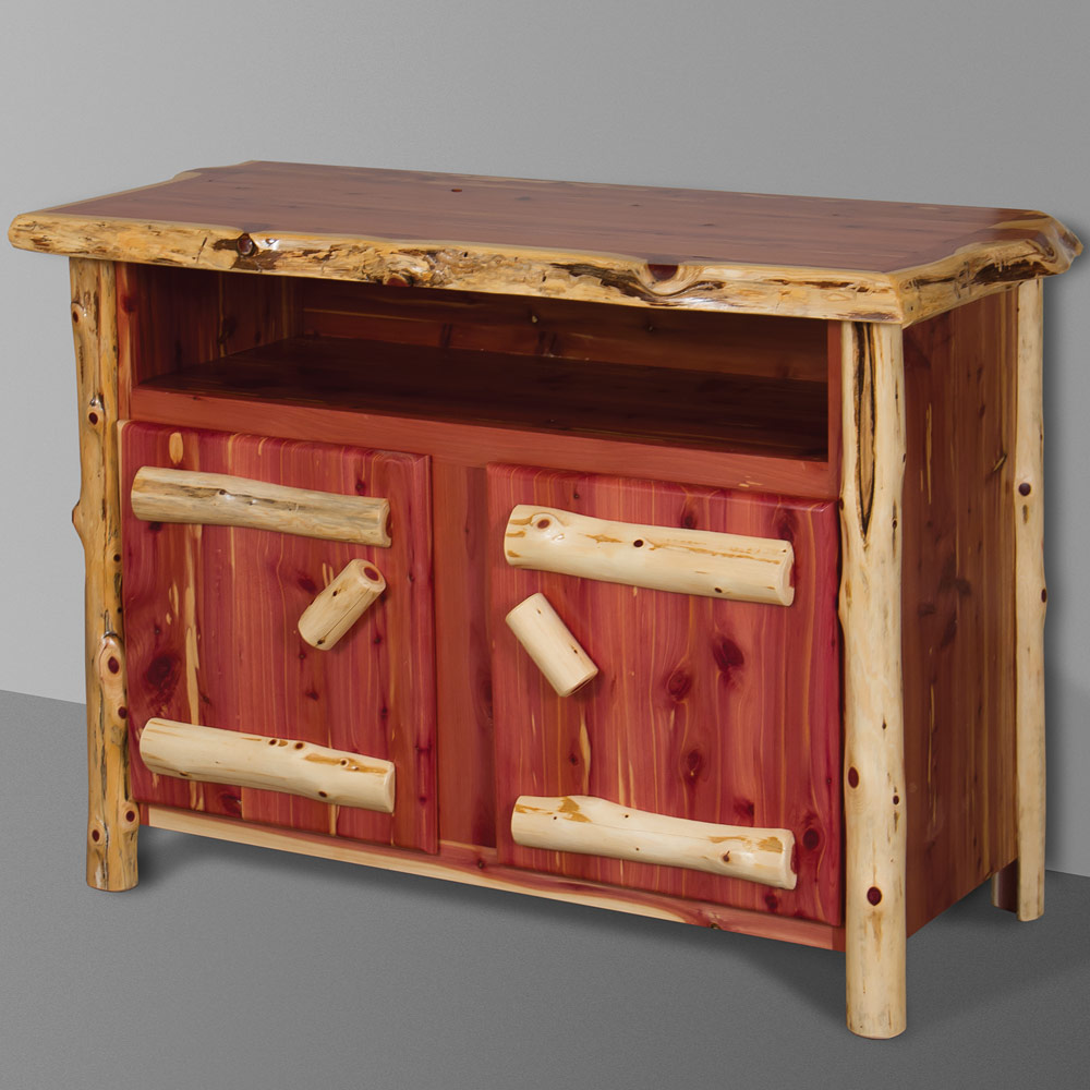 Red Cedar Amish TV Stand