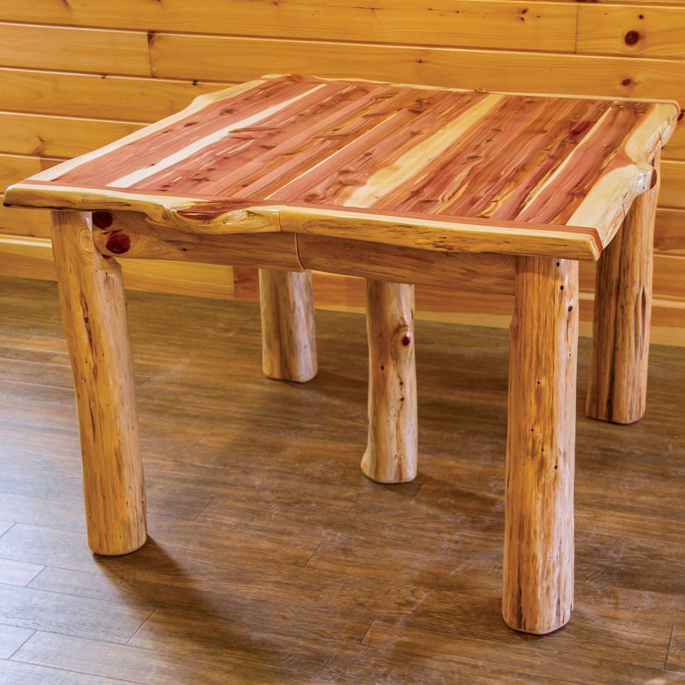 Red Cedar Amish Dining Room Set - Amish Log Furniture ...