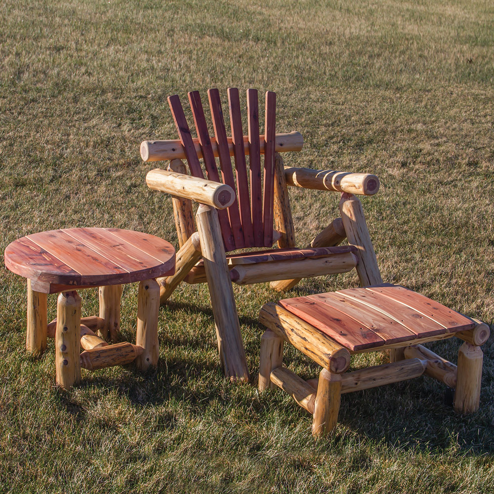 Red Cedar Amish Outdoor Furniture Set