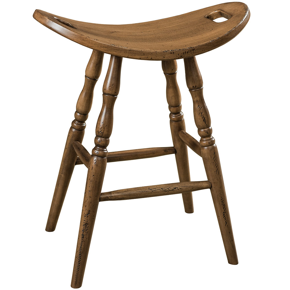 Saddle Amish Bar Stool Traditional Furniture Cabinfield Fine