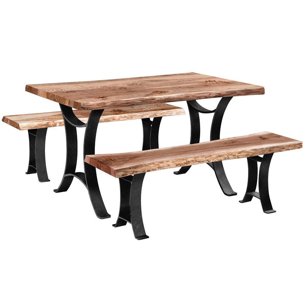 Lakota Amish Kitchen Table and Bench Set