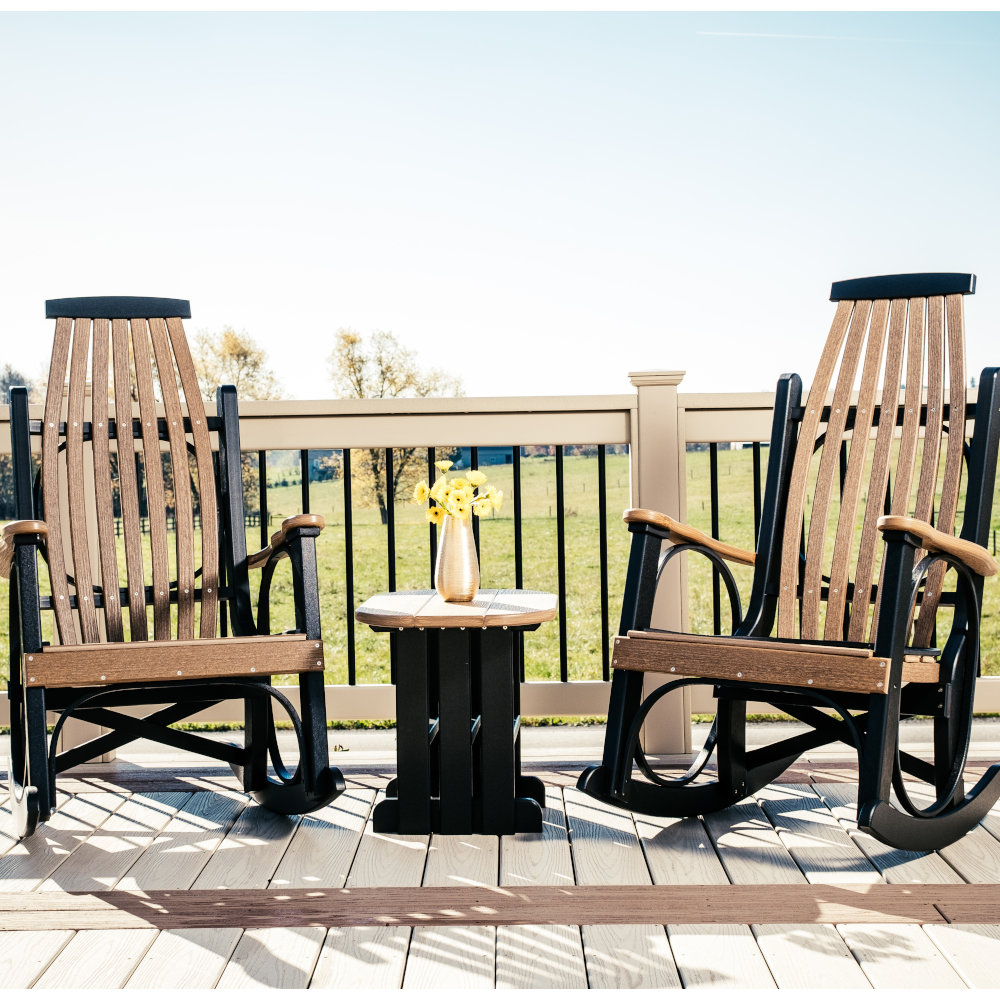 grandpa's favorite poly amish rocking chair (set of 2)