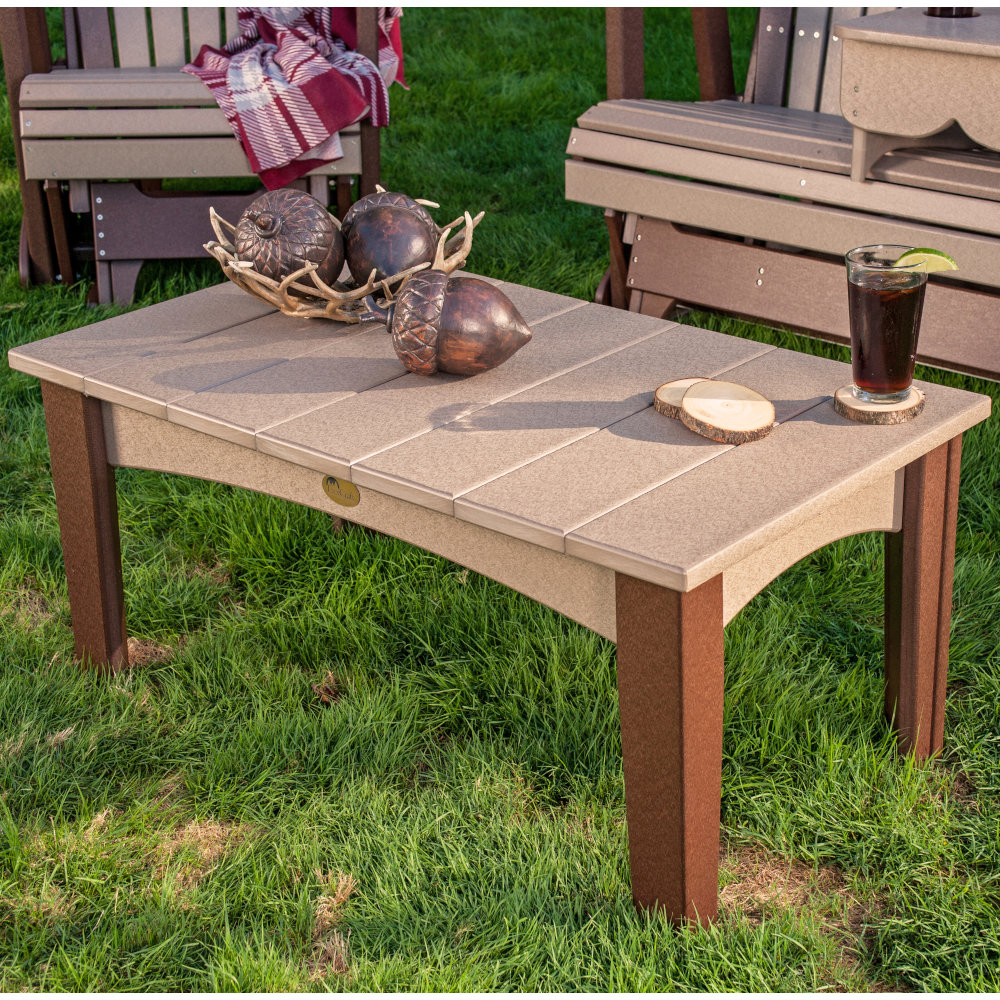 Island Outdoor Amish Coffee Table Amish Furniture Cabinfield