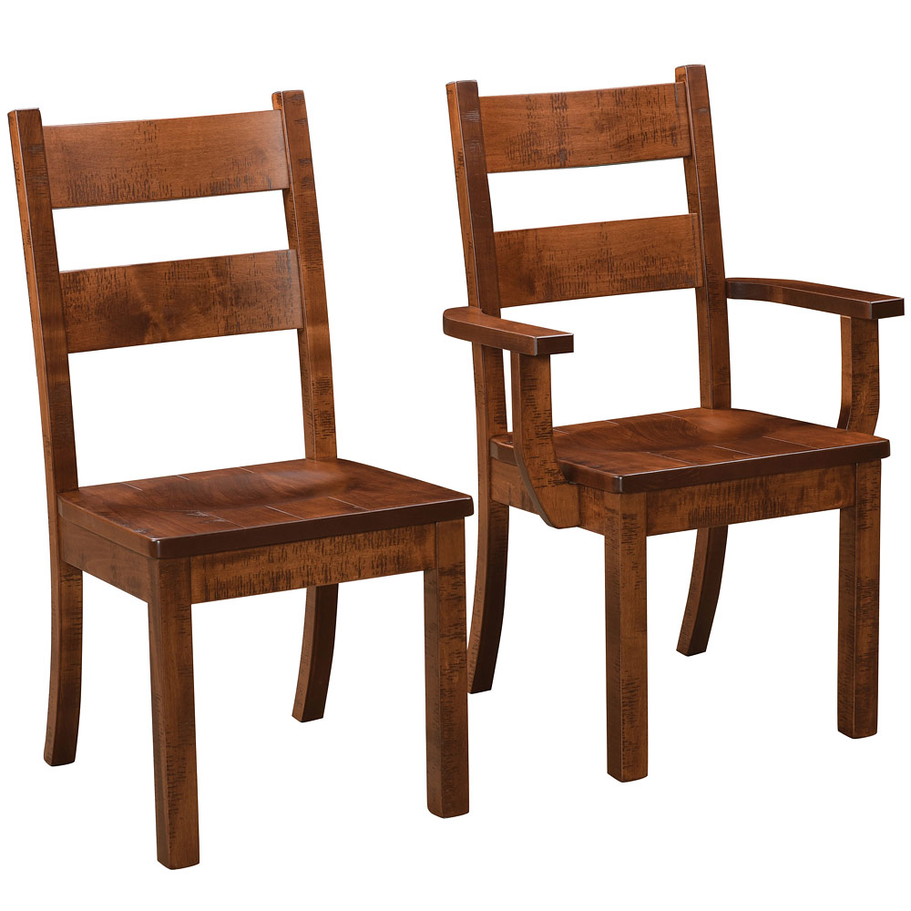 Western Amish Dining Chairs Rustic Style Furniture Cabinfield Fine Furniture