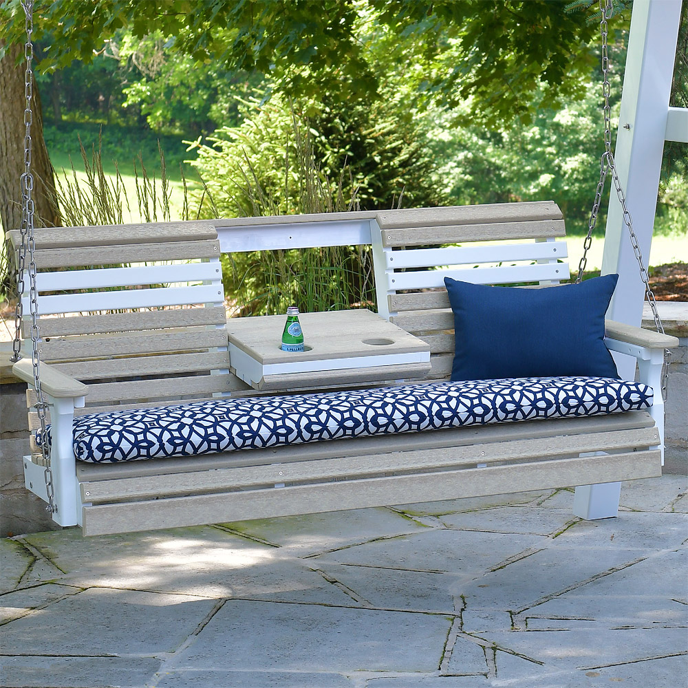 Sylvan Poly Amish Porch Swing 5 Ecological Cabinfield Fine Furniture