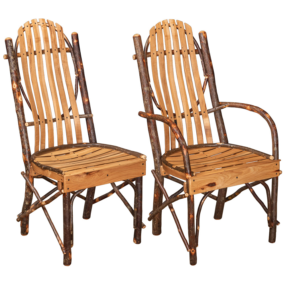 Hickory Bentwood Amish Dining Chairs Amish Furniture Cabinfield Fine Furniture
