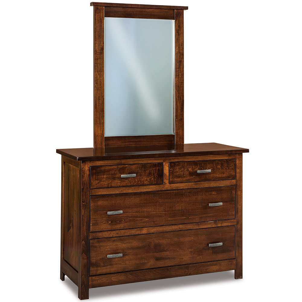 Dresser With 4 Drawers In Solid Wood For Craftsman Bedroom Set Small Chest Of Drawers Arts