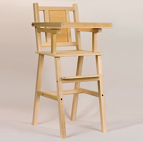amish doll high chair handmade amish furniture cabinfield fine rh cabinfield com Amish Wood Chairs Discount Amish Wooden High Chairs