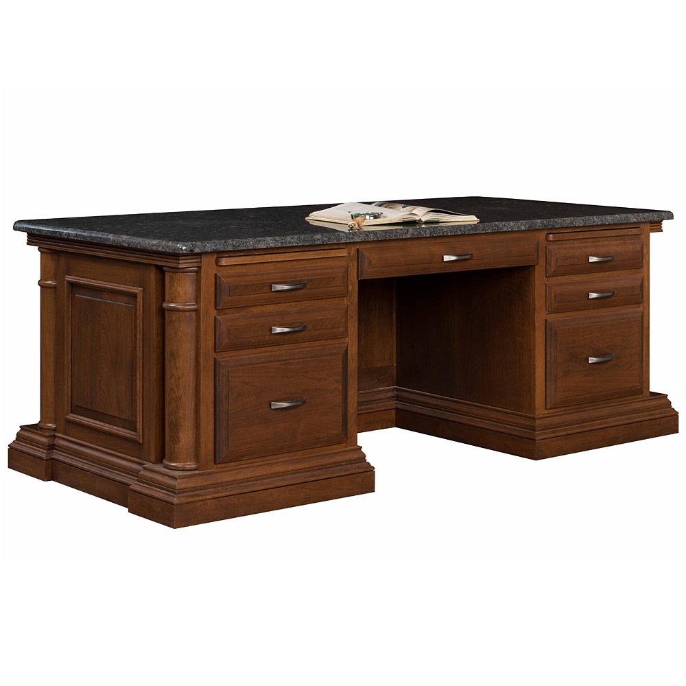 Paris Executive Amish Desk Amish Office Furniture