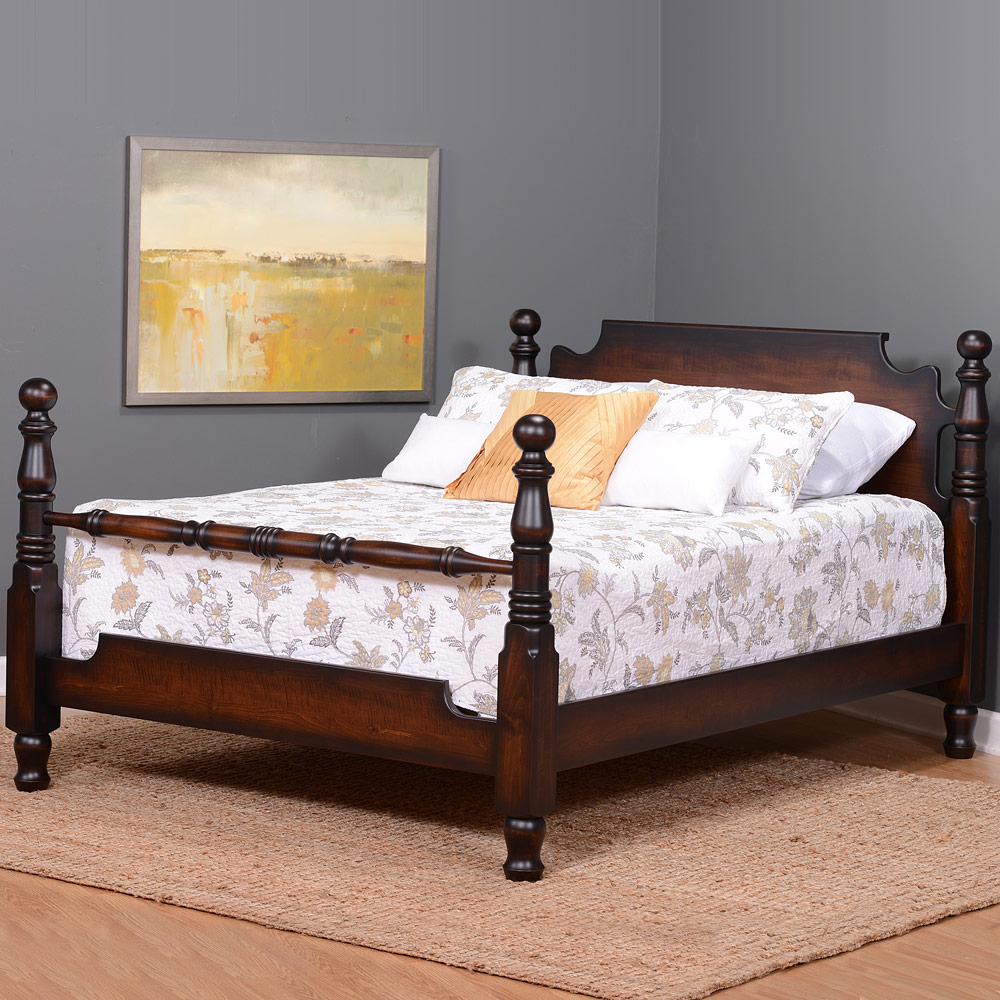 solid wood 4 poster bed:amish & handmade-cannonball