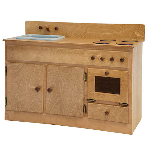 Little House Play Kitchen Sink & Stove Combo - Wooden Play ...