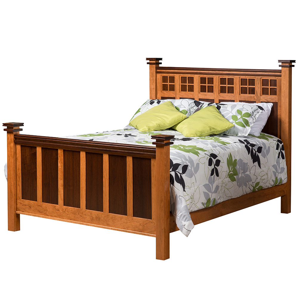 Bed Solid Wood Handmade Mission Style Bedroom Furniture Twin Full Queen King Or Califoria King