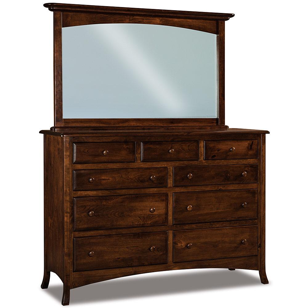 chest of drawers 9 drawer dresser optional beveled mirror modern bedroom sets summerfield. Black Bedroom Furniture Sets. Home Design Ideas