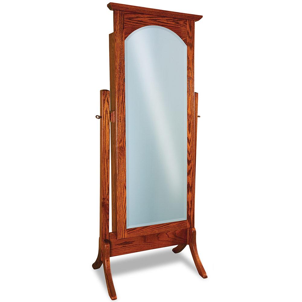 Contemporary full length cheval beveled mirror modern free for Modern long mirror