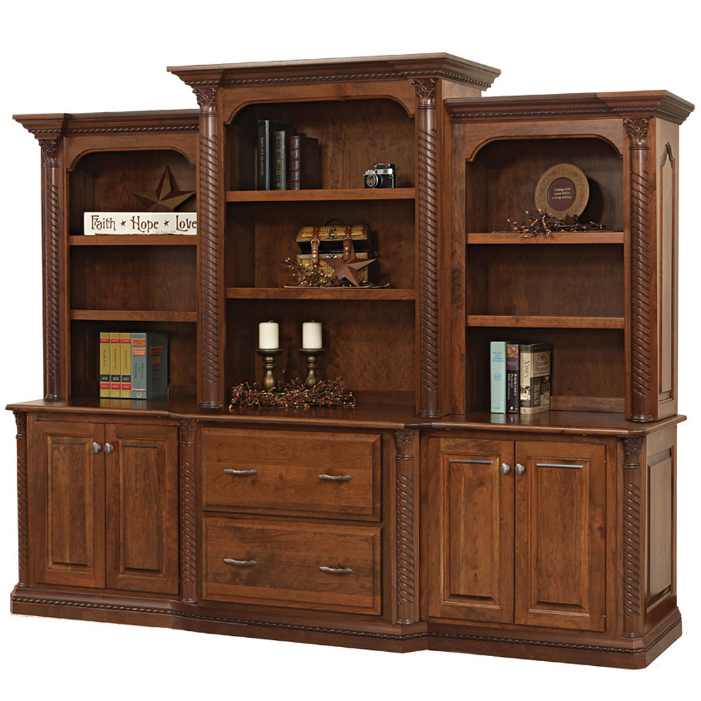 Lexington Base Amish Hutch Amish Office Furniture