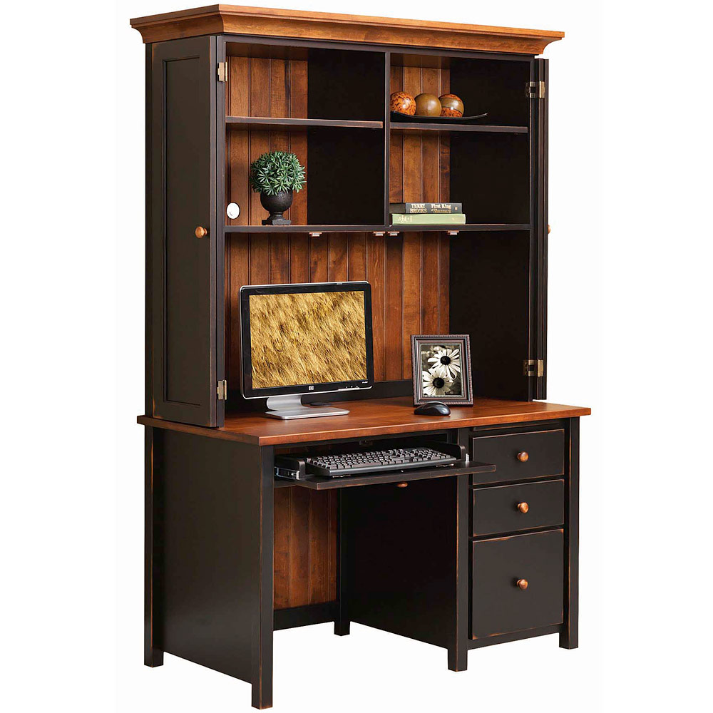 Eshton Single Pedestal Computer Desk Hutch