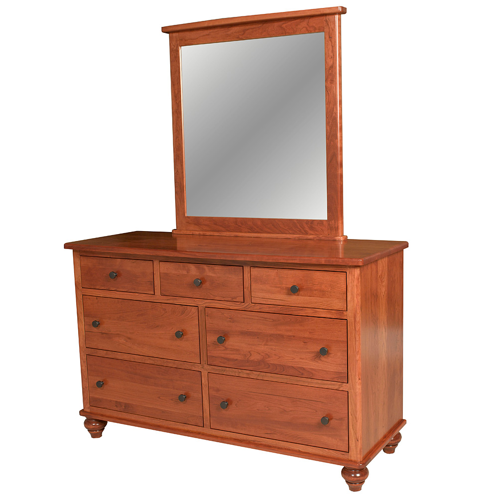 Traditional dresser with optional mirror amish solid wood for Furniture fairbanks