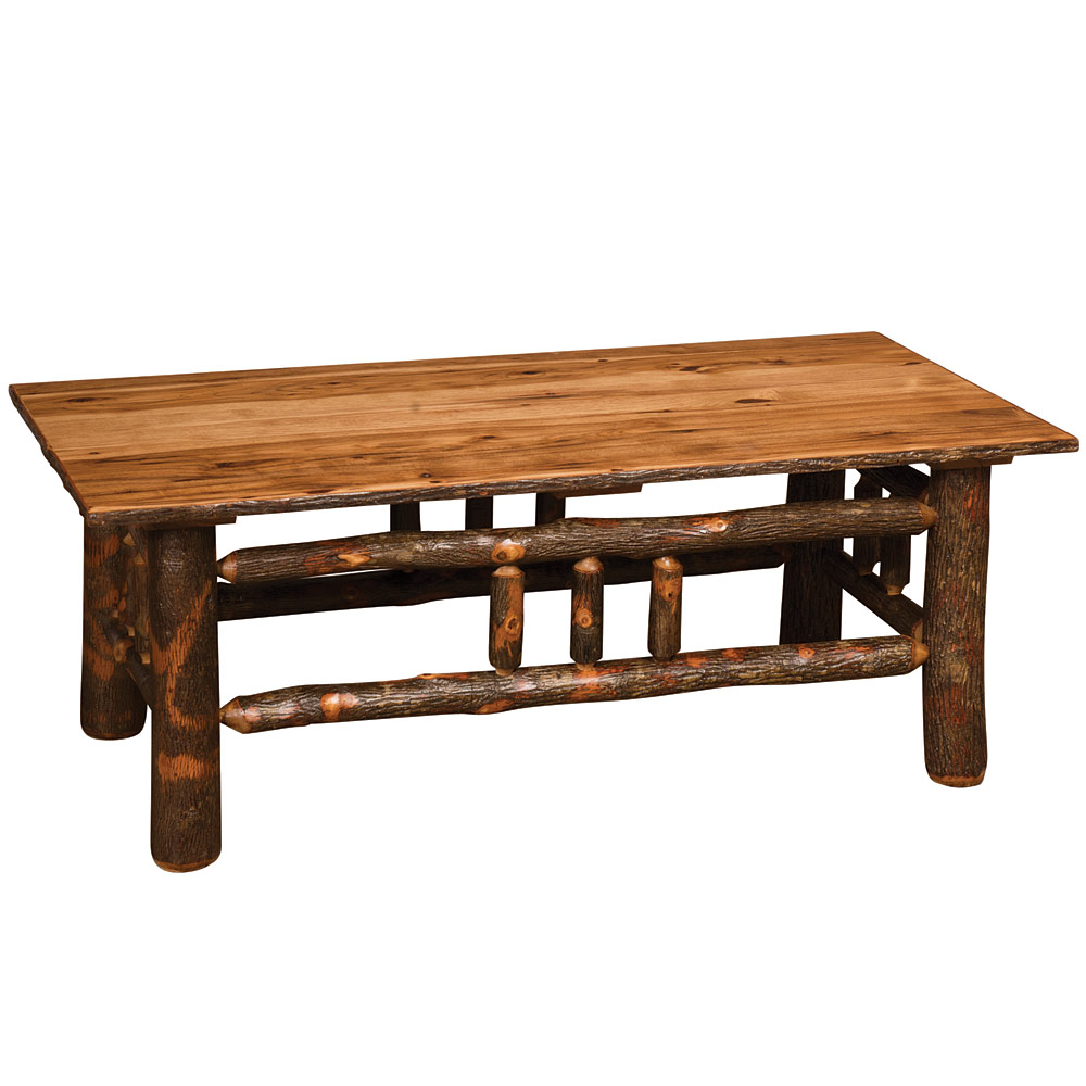Amish Hickory Tables Hickory Lumberjack Coffee Table Rustic Home Accents