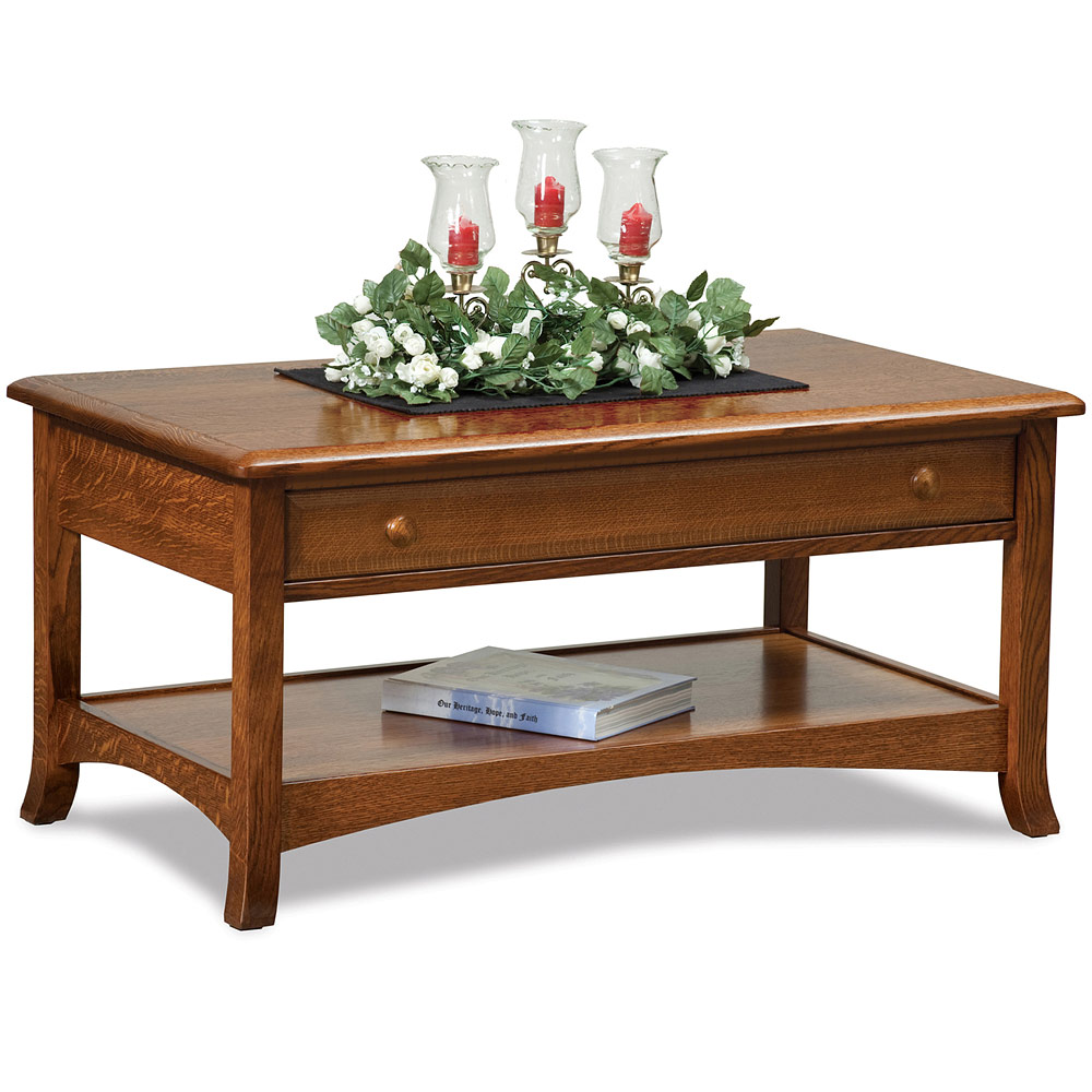 Lift Top Coffee Table Wooden Coffee Table Rectangular Coffee Table Amish Summerfield