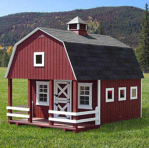 Playhouses wonderland wood playhouses country dutch for Dutch style barn