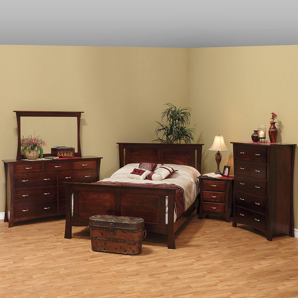 Bedroom Furniture Set: Solid Wood Handcrafted Modern Bedroom Set  Contemporary   Lenox