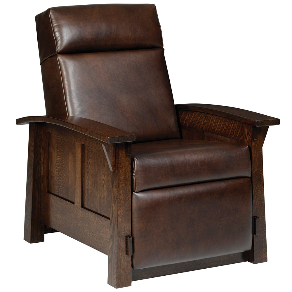 Recliner Armchair Amish Solid Wood Living Room Chair