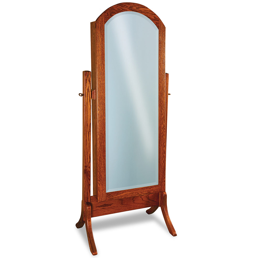 Contemporary cheval full length beveled mirror modern free for Long standing mirror