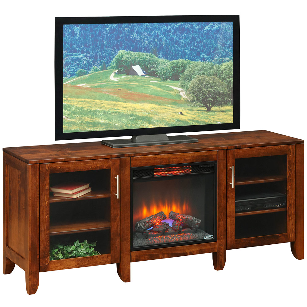 Emerson Fireplace Amish Tv Cabinet Amish Tv Stand Cabinfield