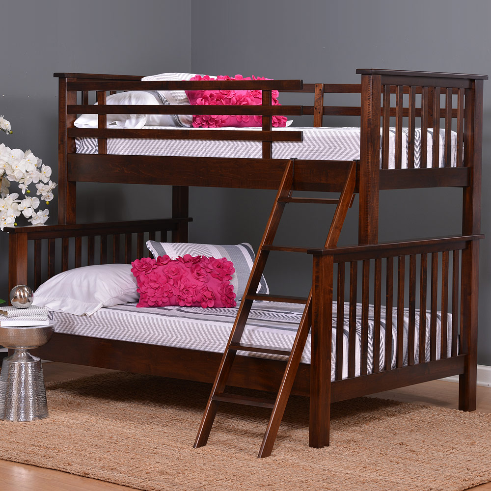 Melrose Amish Bunk Bed Amish Bedroom Furniture Cabinfield Fine