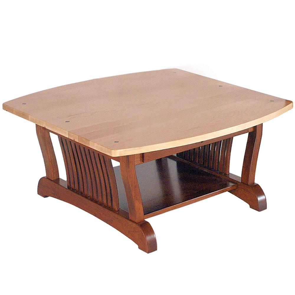 Square Coffee Table Handmade Square Wood Coffee Table Mission Modern Reseda