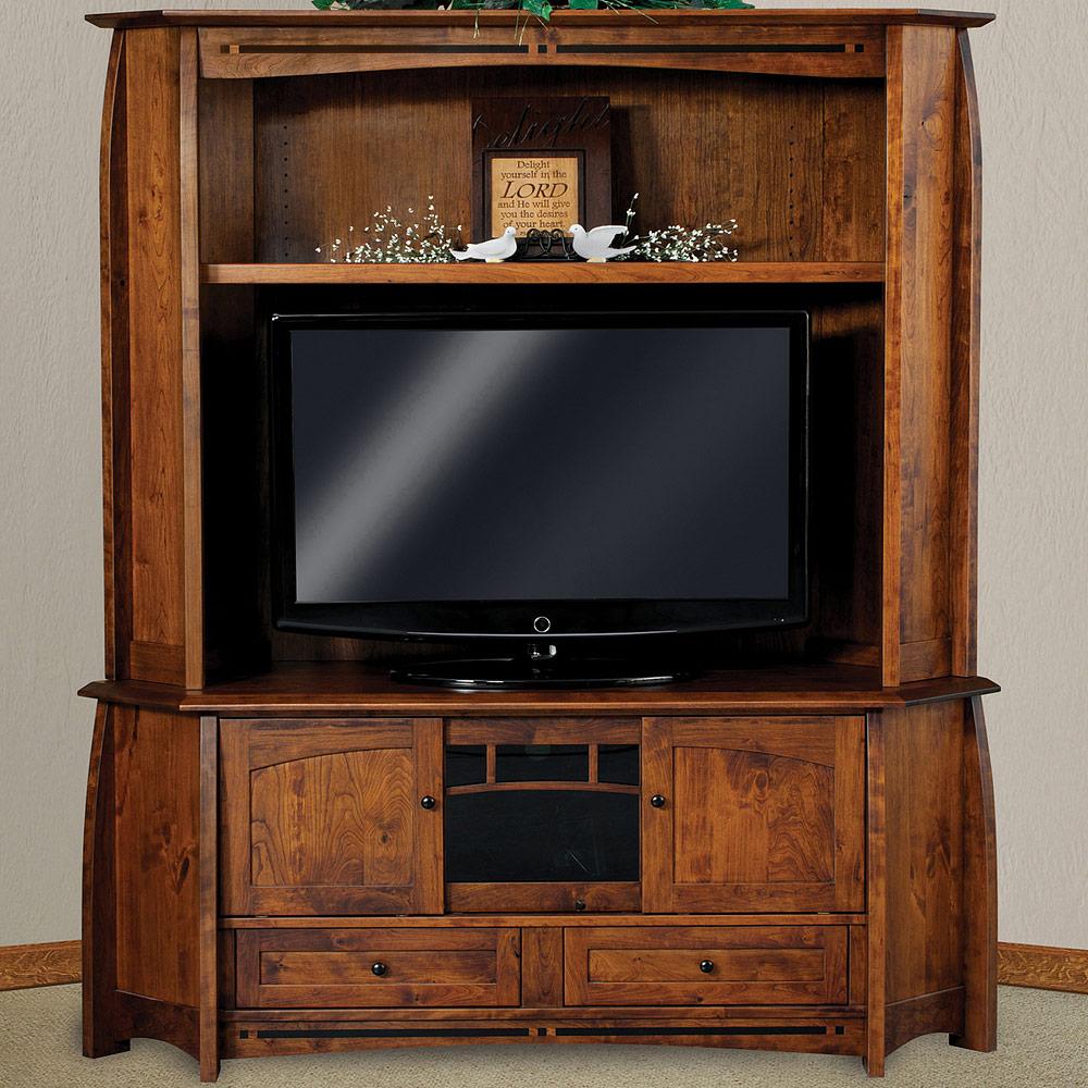 Corner Media Stands Units Boulder Creek Corner Tv Cabinet Hutch