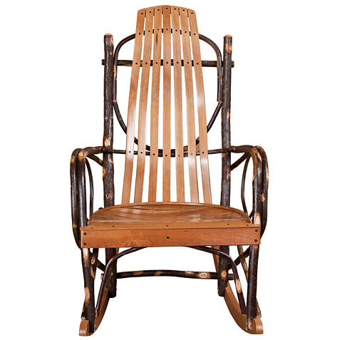 Home Rustic Designs Hickory Furniture Hickory Rocking Chairs and ...
