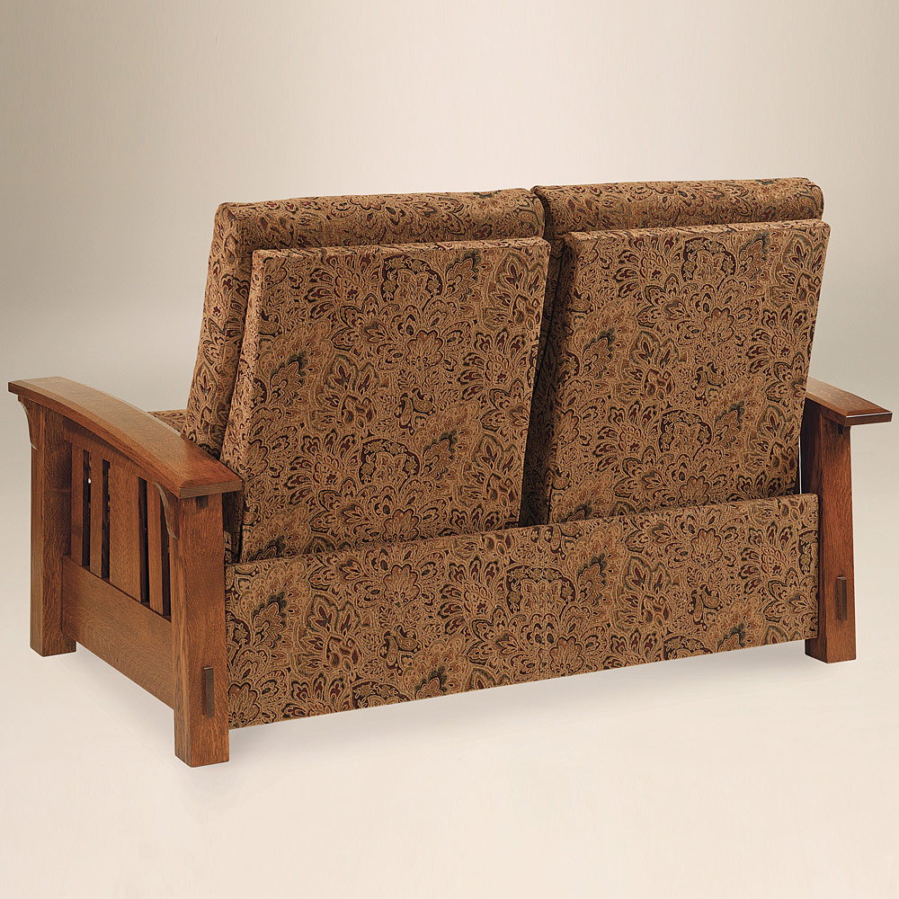 Reclining Loveseat Amish Reclining Loveseat Couch 2