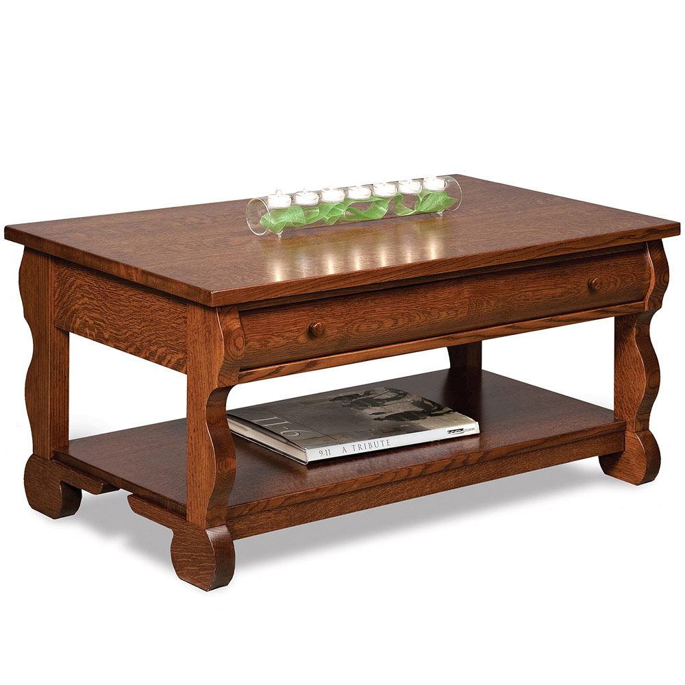 Olde Sleigh Coffee Table With Optional Lift Top