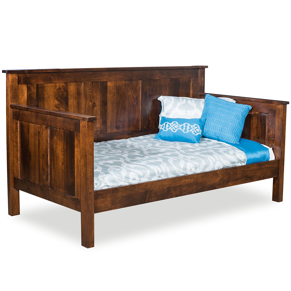- Handmade Solid Wood Amish Panel Daybed With Trundle Option