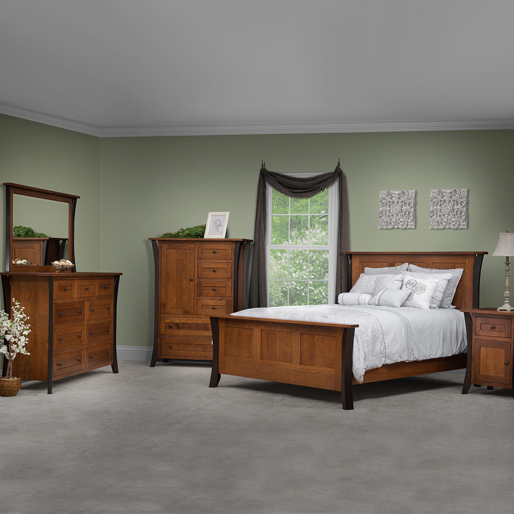 bedroom furniture set bed dresser with mirror tall On allegheny furniture