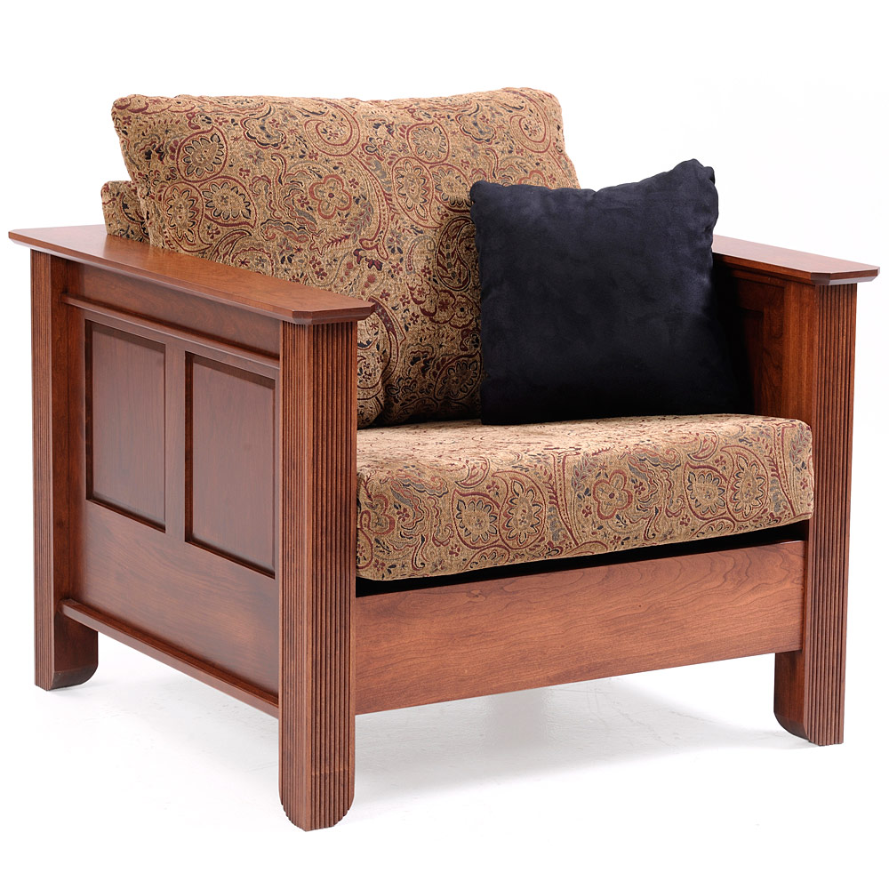 Accent Armchair Amish Mission Solid Wood Sofa Chair