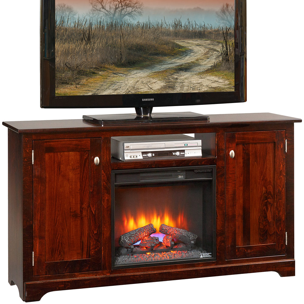 Amazing Alston Amish Fireplace Tv Cabinet Home Interior And Landscaping Transignezvosmurscom