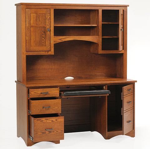 Mission Desk With Hutch Amish Mission Desk With Hutch