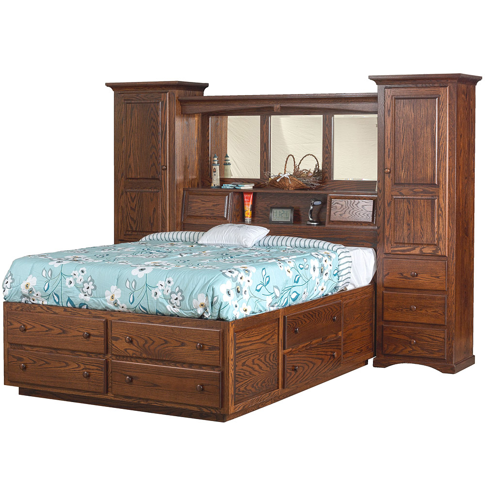 Solid Wood Bedroom Wall UnitAmish Handcrafted Fine